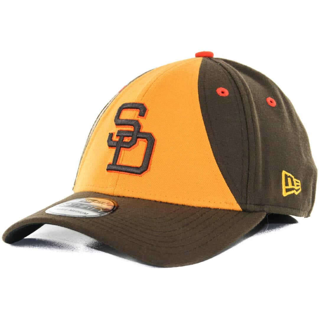 detailed look c1d30 0d22a ... ebay new era 39thirty san diego padres 1984 retro cooperstown team  classic stretch fit hat brown ...