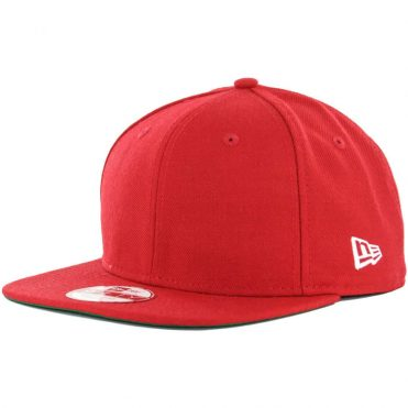 New Era Blanks 9Fifty Plain Blank Snapback Hat, Scarlet Red