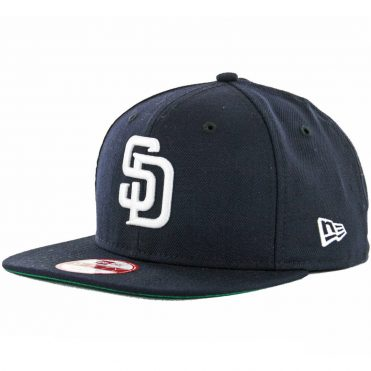 New Era 9Fifty San Diego Padres Snapback Hat, Navy, White
