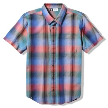 LRG Delano Woven Short Sleeve Shirt, True Blue