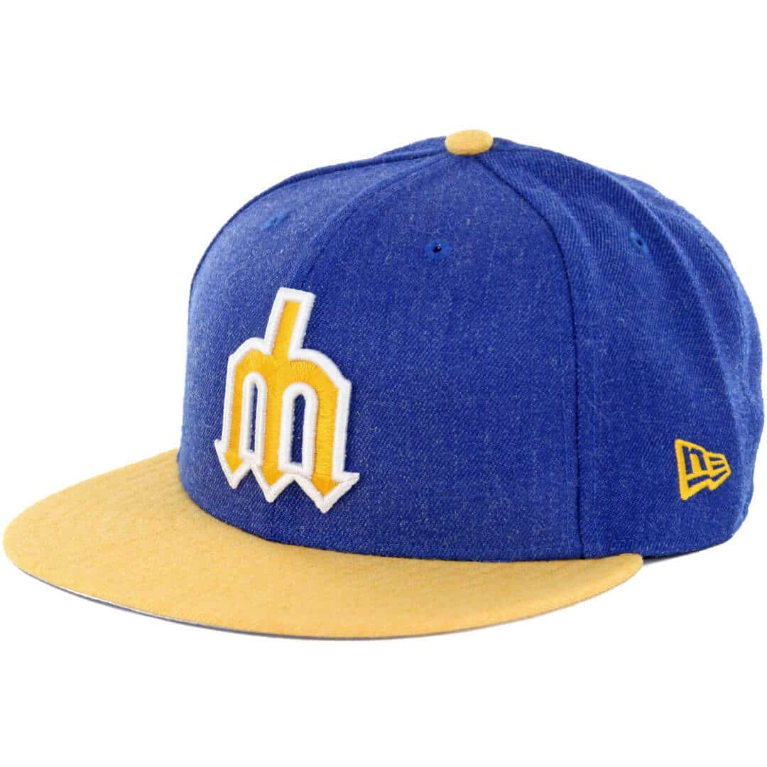 New Era 9fifty Seattle Mariners Heather Act Snapback Hat