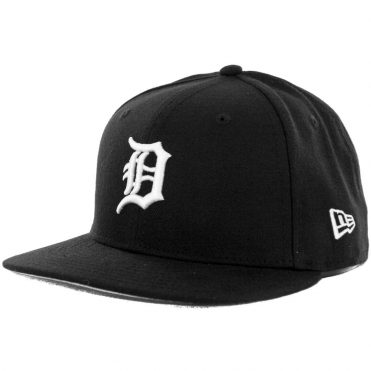 New Era 59Fifty Detroit Tigers Fitted Hat, Black, White