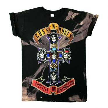 Vintage Wear Guns N' Roses Appetite For Destruction Jumbo T-Shirt, Black