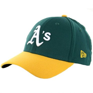 New Era 39Thirty Oakland Athletics Team Classic Stretch Fit Hat, Green/Yellow