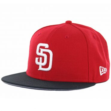 New Era 59Fifty San Diego Padres 2 Tone Basic Fitted Hat, Red, White-Black