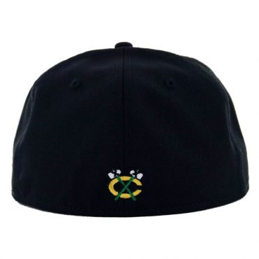 New Era 59Fifty Chicago Blackhawks Fitted Hat, Black