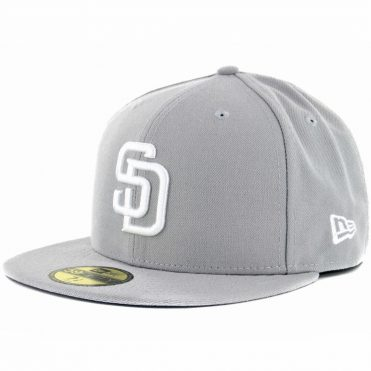 New Era 59Fifty San Diego Padres Fitted Hat, Grey, White