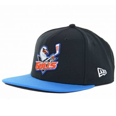 New Era 9Fifty San Diego Gulls Snapback Hat, Black/Blue