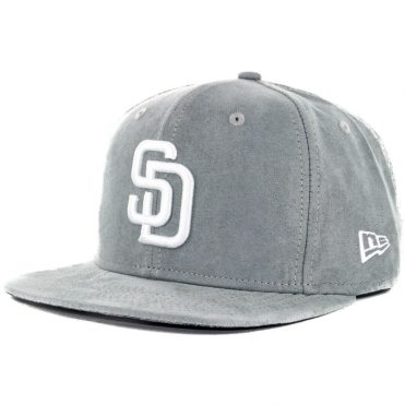 New Era x Billion Creation 9Fifty San Diego Padres Floral Suede Snapback Hat, Graphite