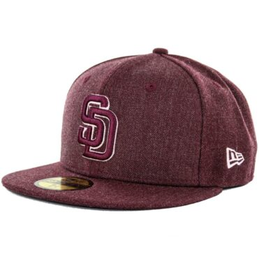 New Era x Billion Creation 5950 San Diego Padres Heather Fitted Hat, Heather Maroon