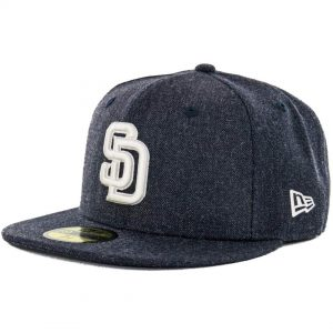 New Era x Billion Creation 5950 San Diego Padres Heather Fitted Hat, Heather Navy