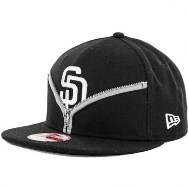 New Era x Billion Creation 9Fifty San Diego Padres Zipper Snapback Hat, Black