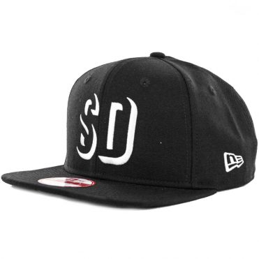 New Era x Billion Creation 9Fifty San Diego Shadow 1904 Snapback Hat, Black