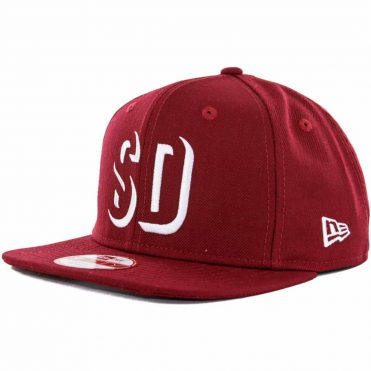 New Era x Billion Creation 9Fifty San Diego Shadow 1904 Snapback Hat, Cardinal