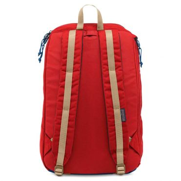 JanSport Fox Hole Red Tape Backpack