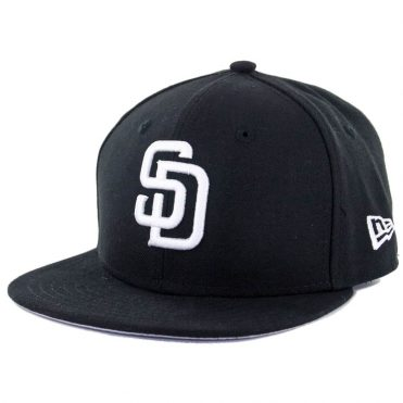 New Era 59Fifty San Diego Padres Youth Fitted Hat, Black, White