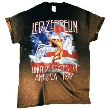 Vintage Wear Led Zeppelin America 1977 Black T-Shirt