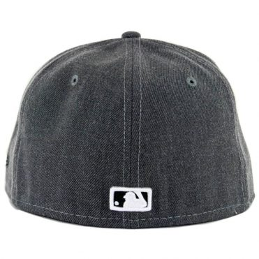 New Era 59Fifty San Diego Padres Heather Graphite Black Fitted Hat