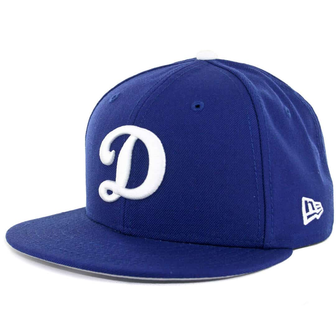 8ced17419ec3f New Era 59Fifty Los Angeles Dodgers D Logo Royal White Fitted Hat - Billion  Creation Streetwear