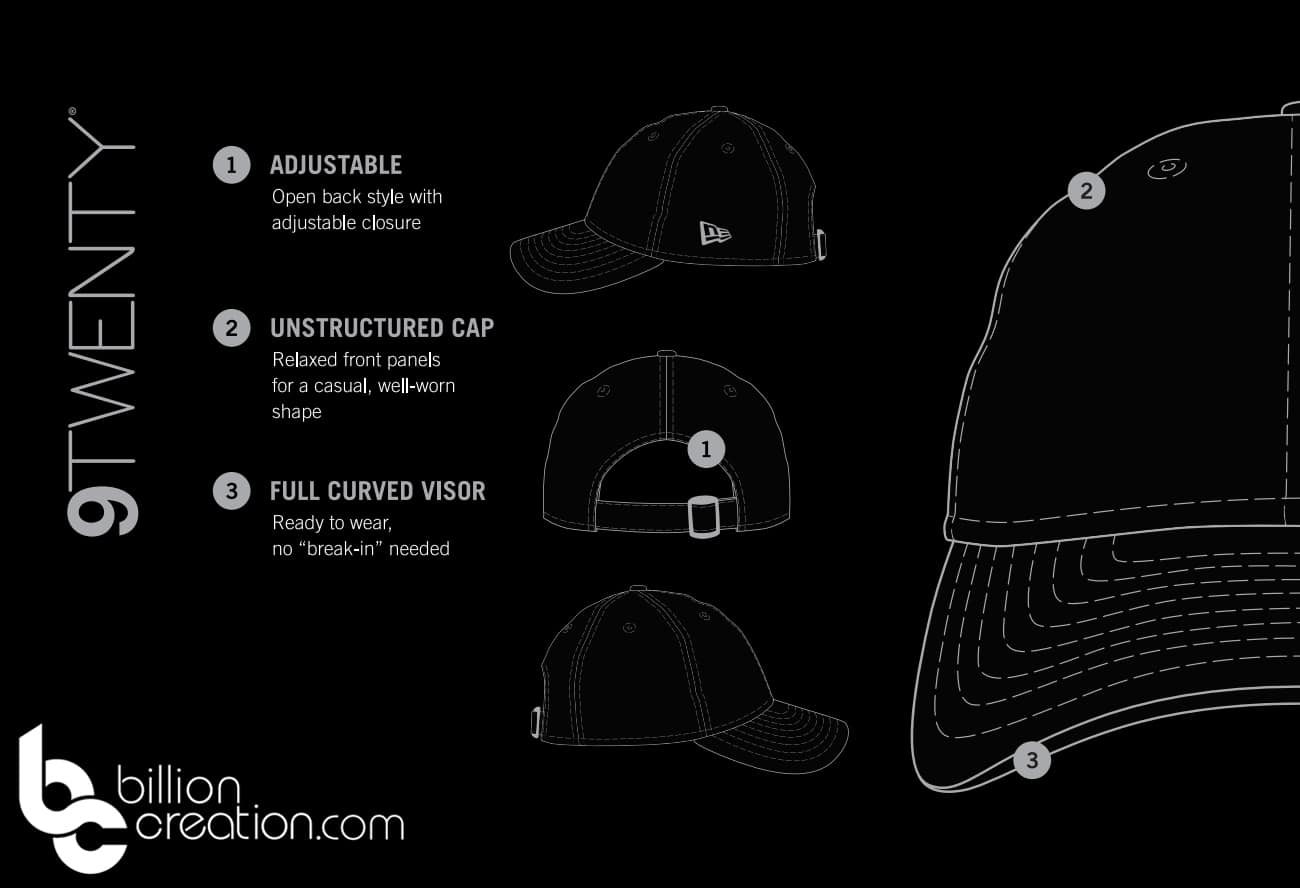 New Era 9Twenty hat sizing chart