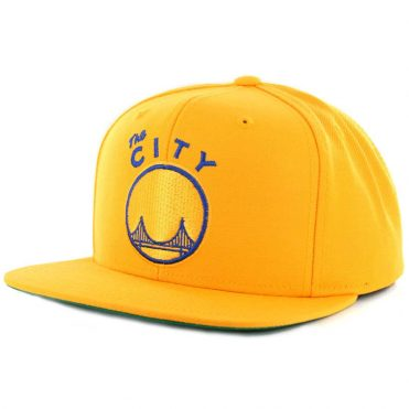 Mitchell & Ness San Francisco Golden State Warriors Wool Solid 2 Yellow Snapback Hat