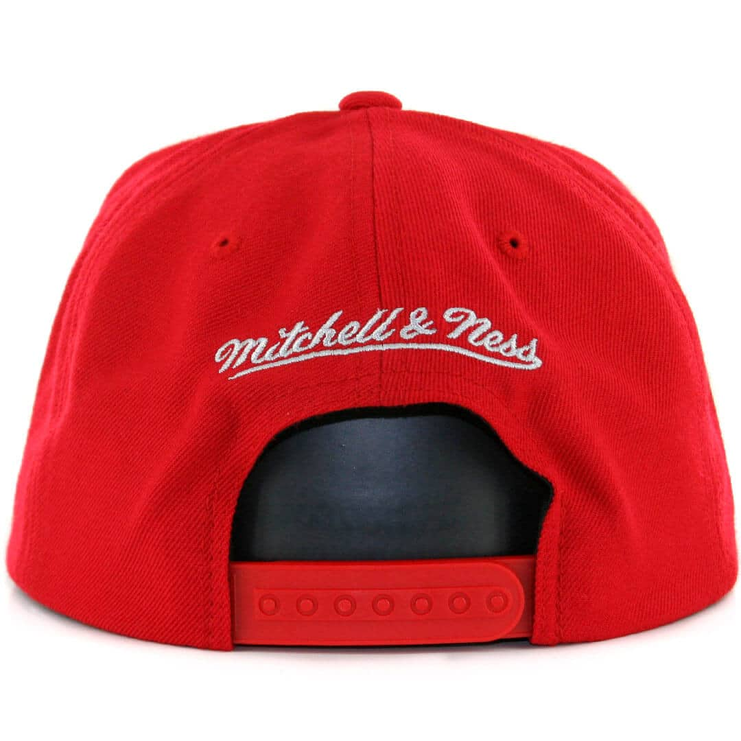 de341a623 Mitchell & Ness Houston Rockets Wool Solid Red Snapback Hat