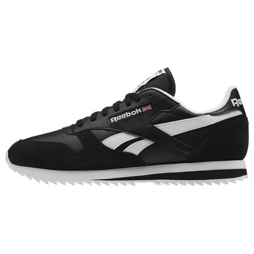 reebok classic leather ripple low bp black white shoe billion creation streetwear. Black Bedroom Furniture Sets. Home Design Ideas