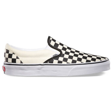 Vans Checkerboard Black Off White Check Classic Slip-On Shoe