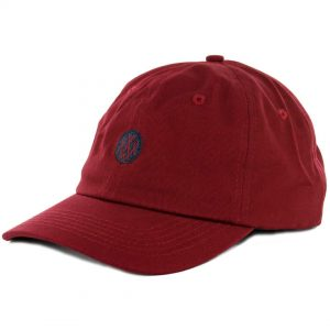 10 Deep Dotted Burgundy Strapback Hat