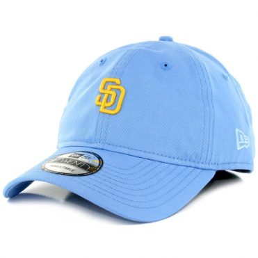 New Era 9Twenty San Diego Padres Micro Logo Strapback Hat Light Blue