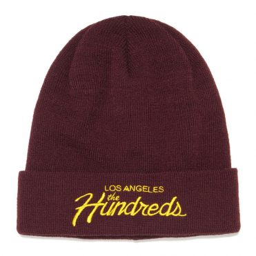 The Hundreds Team FA16 Burgundy Beanie