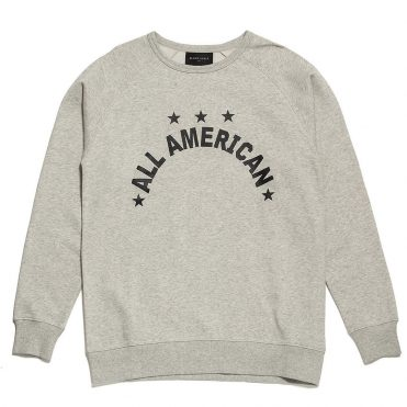 Black Scale All American Almond Crewneck Sweatshirt