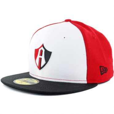 New Era 59Fifty Guadalajara Atlas Official Red White Black Fitted Hat
