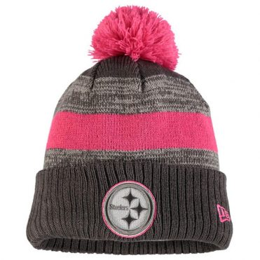 New Era Pittsburgh Steelers Breast Cancer Awareness 2016 Sport Knit Beanie Heather Graphite