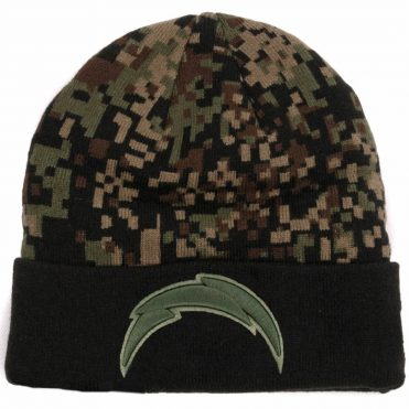 New Era San Diego Chargers Print Play Knit Beanie Digital Camo