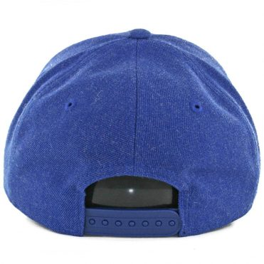 New Era 9Forty Golden State Warriors Heather Crisp Snapback Hat Royal Blue Heather