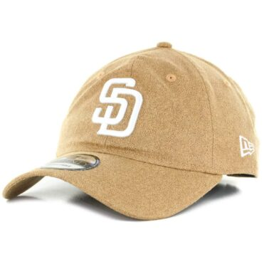 New Era x Billion Creation 9Twenty San Diego Padres Waxed Cotton Strapback Hat Khaki