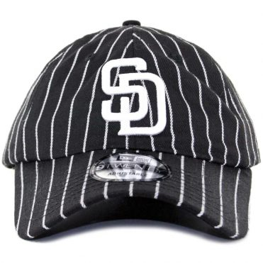 New Era x Billion Creation 9Twenty San Diego Padres Pinstripe Strapback Hat Black White
