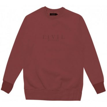 Civil Embroidered Crewneck Sweatshirt Maroon