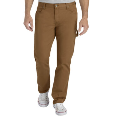 Dickies XU230 Slim Fit Tapered Flex Fabric Carpenter Pant Stonewashed Brown Duck