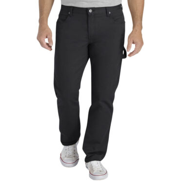 Dickies XU230 Slim Fit Tapered Flex Fabric Carpenter Pant Stonewashed Black