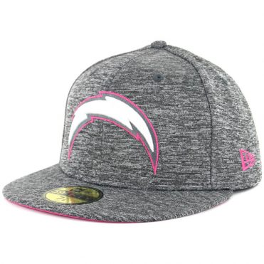 New Era 59Fifty San Diego Chargers Breast Cancer Awareness 2016 Fitted Hat Heather Graphite