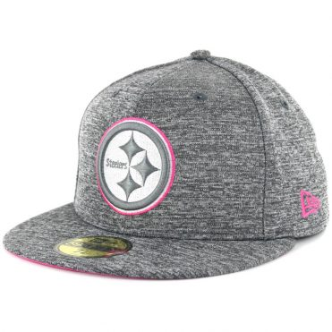 New Era 59Fifty Pittsburgh Steelers Breast Cancer Awareness 2016 Fitted Hat  Heather Graphite