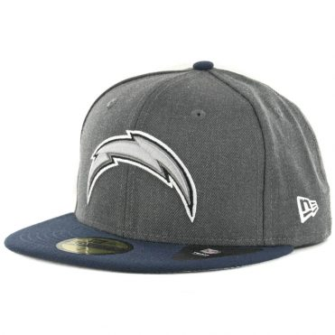 New Era 59Fifty San Diego Chargers Shader Melt 2 Fitted Hat Heather Graphite Navy