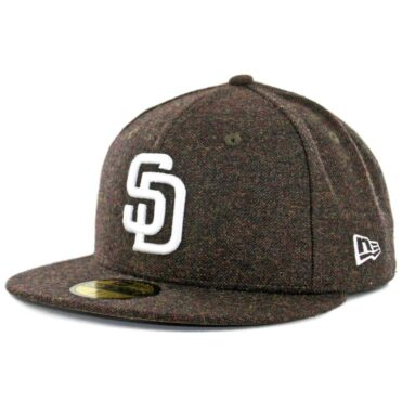 New Era x Billion Creation 59Fifty San Diego Padres Tweed Fitted Hat Brown