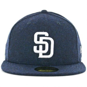 New Era x Billion Creation 59Fifty San Diego Padres Tweed Fitted Hat Navy
