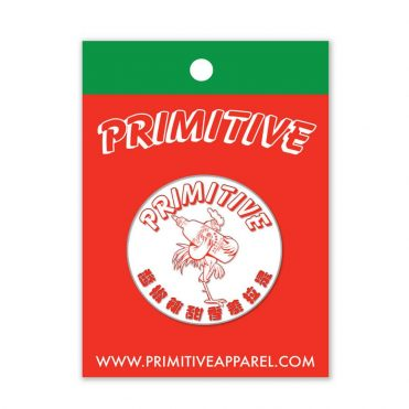 Primitive x Huy Fong Foods Siracha Label Pin