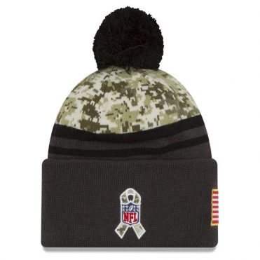 New Era Green Bay Packers Salute to Service 2016 Knit Beanie Digi Camouflage Charcoal
