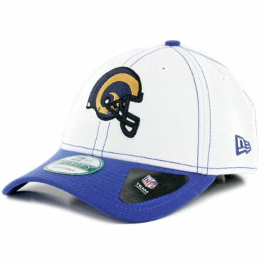 New Era 9Forty Los Angeles Rams 4th Down Snapback Hat White Royal Blue