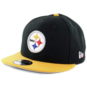 New Era 9Fifty Pittsburgh Steelers Made In America Snapback Hat Black Yellow